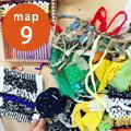 SHOP編集は、福岡県の南部にある広川町の素材を編集して、発信するショップです。 「織物ワークショップ」今回は広川町の自然の色で染めた糸や、ハギレや久留米絣の糸などで織って自分だけのテキスタイルを作るワークショップを開催します。完成した織物は飾ったり、鍋敷きや、サコッシュなどにも。 織物ワークショップ参加費2000円